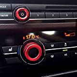 BMW エアコン オーディオ リング 5 6 7 シリーズF10 F11 F06 F07 F12 F13 F01 GT M5 レッド