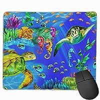綺麗な海洋 マウスパッド ゲーム 疲労低減 レーザー&光学式マウス対応パッド 滑り止めゴム底 耐洗い表面 耐久 25 X 30cm