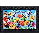 """Briarwood Lane Fluttering Butterflies Spring Doormat Indoor Outdoor 18"""" x 30"""""""