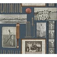 York Wallcoverings vn0412Spirit of the Game壁紙、Blacks