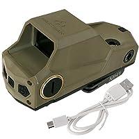 ANS optical USB充電可能! HARTMAN MH1タイプ ドットサイト ( DE デザートカラー ) レッドドット サバゲー サバイバルゲーム ミリタリー