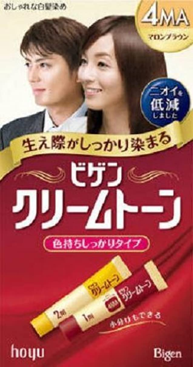 足音染色エンターテインメントビゲン クリームトーン 4MA(マロンブラウン)×12箱セット