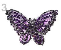 1 3青紫鉄バタフライパッチとスパンコール、鉄-パッチ-ソー-パッチを縫うように、反射し、Haberdashery