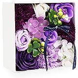 父の日 ソープフラワー 創意方形ギフトボックス 誕生日 母の日 記念日 先生の日 バレンタインデー 昇進 転居など最適としてのプレゼント
