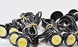 (スリーボックス)ThreeBox 丸形 牛目 デイライト 23mm 10個セット 白光 防水 12V 10W 黒 ブラック