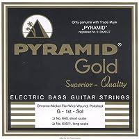 PYRAMID STRINGS EB Gold 040-100 short scale chrome nickel flatwounds フラットワウンド エレキベース弦