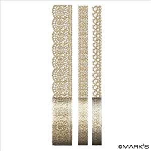 マークス ラインデコレーションテープ・レース/マークステッカー/ゴールド STK-LT11-GD