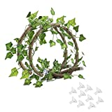 Tfwadmx Reptile Bend-A-Branch Vines, Flexible Reptile Leaves Pet Habitat Decor Climber Jungle Long Vines for Climbing Crested Gecko Lizard, Frogs, Snakes (79 in)
