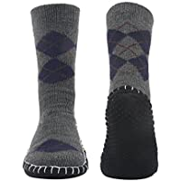 Men's Winter Knitted Non-Skid Home Warm Slipper Socks Indoor Floor Stocking House Shoes