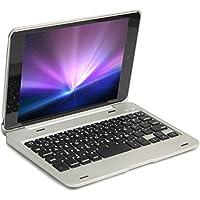 【PCATEC】 iPad mini/mini Retina/mini 3 専用 Bluetooth キーボードケースPCカバー☆Macbookに変身☆(mini1/2/3用 シルバー)