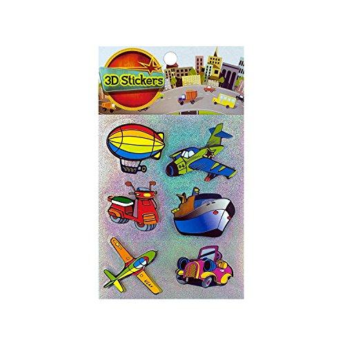 Kole Imports HC305 3D Transportation Stickers [並行輸入品]