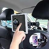 タブレットホルダー スマホ 車載 ホルダー MAYOGA オーディオ用車載ホルダー ウントホルダー 全て車後部座席適用 調節可能 360度回転式 工具不要で取付可能 4インチ?11インチTablet用 スタンド iPhone Samsung Galaxy iPad 2/3/4/mini/air Galaxy Tab/Google Nexusn/Xperia/SONY/Kindle等対応