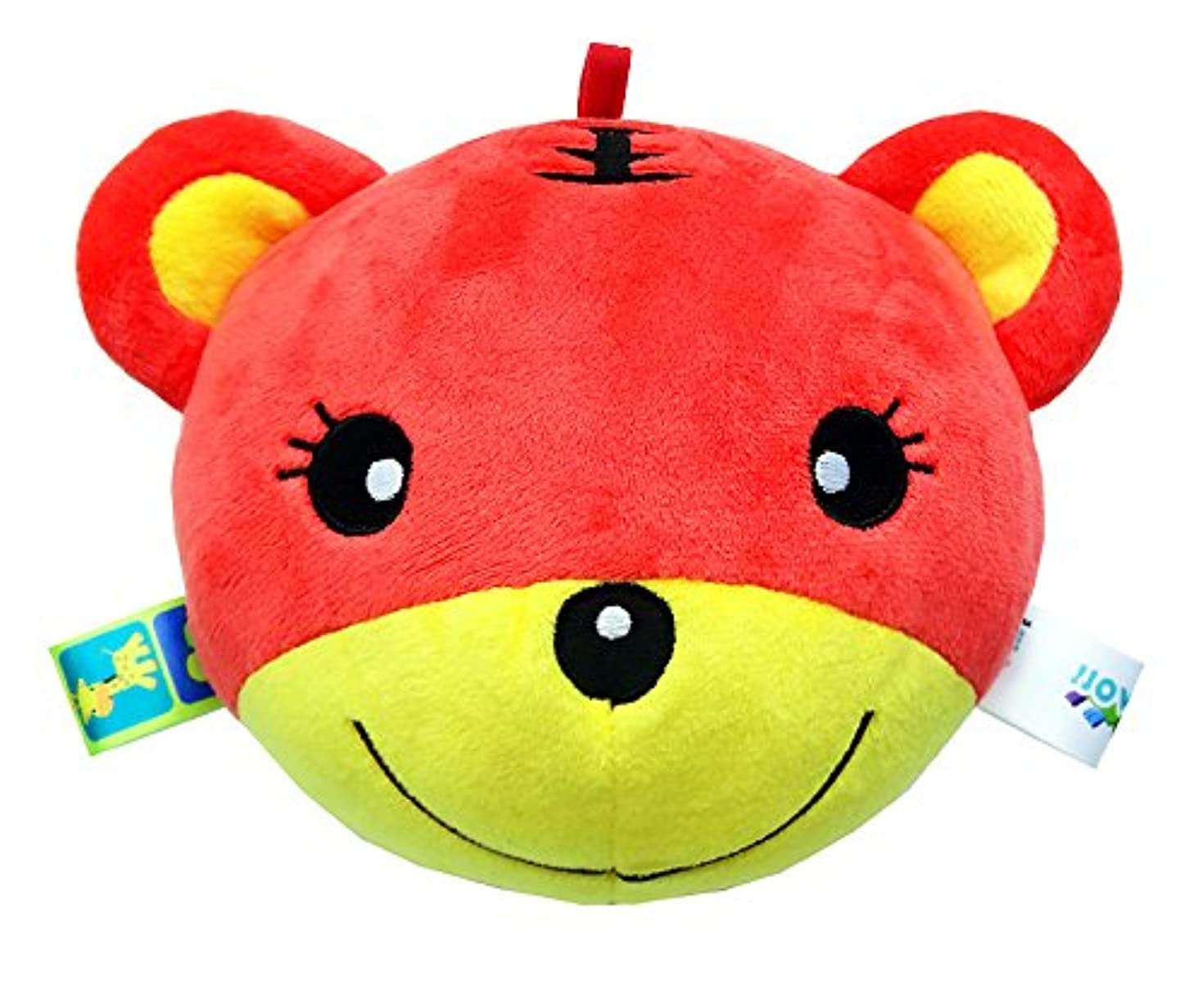 小麦自信があるコードYiping 子供用 知育玩具 赤ちゃん ラブリータイガー ソフトハンドラトル ベル キッズ ベビー 面白いおかしなお菓子ベル ボール おもちゃ ギフト