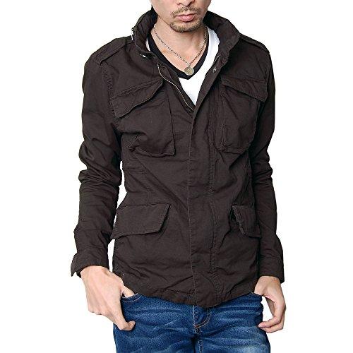 (ハイクオリティプロダクト) High quality product メンズ ミクロコードM65ジャケット ミリタリージャケット スプリングコート メンズ ライトアウター M-65 チャコール Mサイズ
