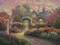 Candamar Designs Rosebud Cottage by Thomas Kinkade No.51648 Counted Cross Stitch Kit, 16 by 12-Inch [並行輸入品]
