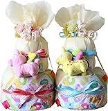 イタリア生まれのrodyで「はじめまして」のごあいさつ ピンク(M)パンパーステープ おむつケーキ 出産祝い ロディ