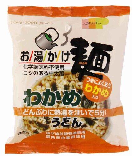 創健社 お湯かけ麺 わかめうどん 72g×12袋