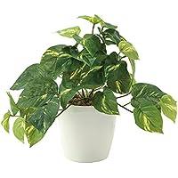 観葉植物 造花 『 フレッシュポトス 』 光触媒(空気清浄) インテリアグリーン (Sサイズ:W30×H25cm)
