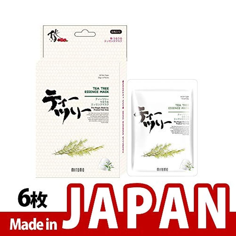口頭スケートサイレントMITOMO【JP512-D-1】日本製ティーツリー シートマスク/6枚入り/6枚/美容液/マスクパック/送料無料