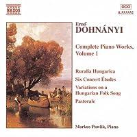 ドホナーニ:6つの演奏会用練習曲/変奏曲 Op. 29/ハンガリー牧歌