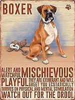 Boxer Dog ティンサイン ポスター ン サイン プレート ブリキ看板 ホーム バーために