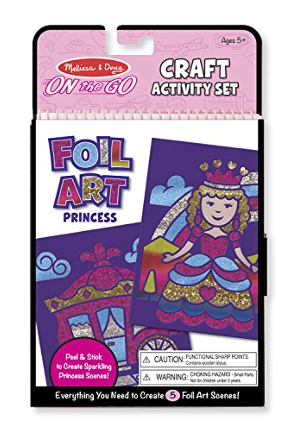 Melissa & Doug On The Go Foilアートクラフトアクティビティキット – プリンセス