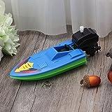 Manyao 赤ちゃんのおもちゃキッド風時計仕事の船のおもちゃバス玩具遊びの水のバスルーム 画像