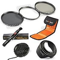レンズフィルター 58mm、K&F Concept® 58mmフィルターキット カメラ用フィルター(UV+CPL+ ND4 )フィルターセット 超薄型UVフィルター レンズ保護と紫外線吸収用+PLフィルター 偏光フィルター 反射除去用+ND4光量調節用 減光フィルター Canon EOS 600D 700D 100D 1100D 1200D 650Dデジタル一眼レフカメラ18-55MMレンズ専用 クリーニングペン+花形レンズフード+レンズキャップ+フィルターケース 3枚用 7点キット