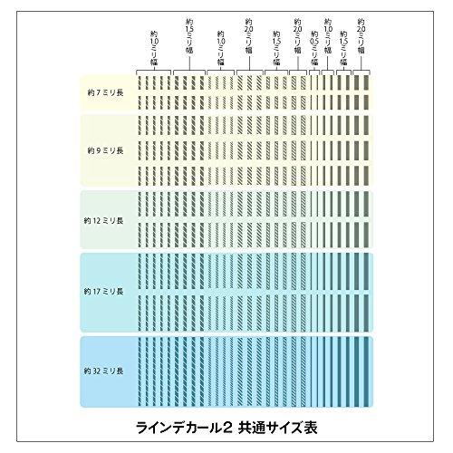 ハイキューパーツ ラインデカール2 レッド 1枚入 プラモデル用デカール LINED02-RED