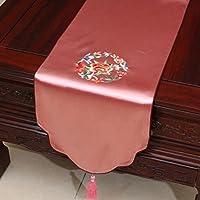 高品質のテーブルランナー ピンクの中国の古典的な刺繍テーブルランナーダムダイニングテーブルテーブルクロスコーヒーテーブルクロスリビングルームキッチンレストランホテルホームデコレーション KKY-ENTER (サイズ さいず : 33*230cm)