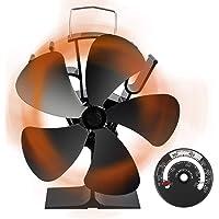 [令和改良最新版] ストーブファン Aonbys 5つブレード エコストーブファン 火力ファン エコファン 火力熱炉ファ…