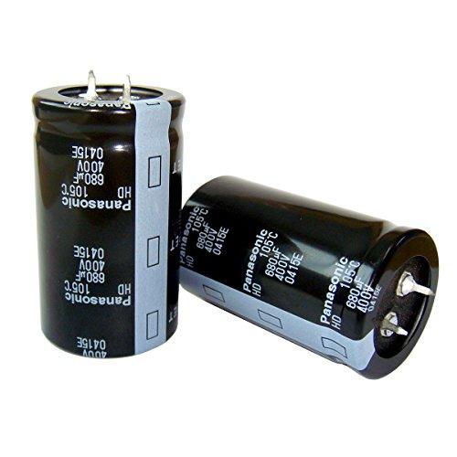 【2個】電解コンデンサー 400V 680uF Panaso...