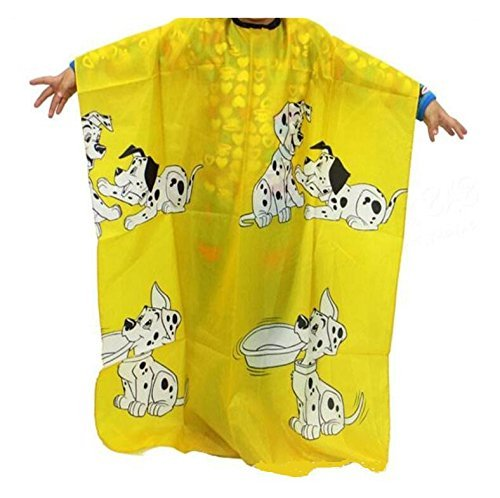 Barber Cape Hair Cutting Cape Haircut Hairdressing Cloth Apron Salon Gown Cape Haircut Tools for Kids-Yellow