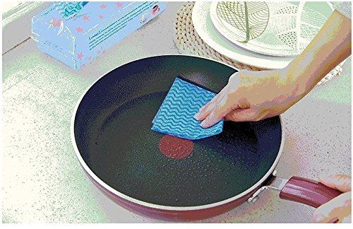 カウンタークロス 厚手 除菌できるウェットタオル 食卓テーブル用 ふきん 使い捨て 不織布 (80pcs, ブルー アップグレード)