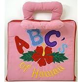 ハワイアンキルトグッズ 絵本おもちゃ『エービィーシー オブ ハワイ (A B C of Hawaii)』 /ハワイアン雑貨インテリア 知育おもちゃ レッド
