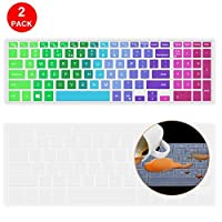 "Lapogy Rainbow Dell Inspiron Keyboard Cover Compatible Dell G3 G5 G7 15.6 Inch Series, 15.6"" Dell Inspiron 15 3000 5000 7000 Series, 17.3"" Dell Inspiron 17 5000 Series(with Numeric Keypad)(Rainbow) [並行輸入品]"