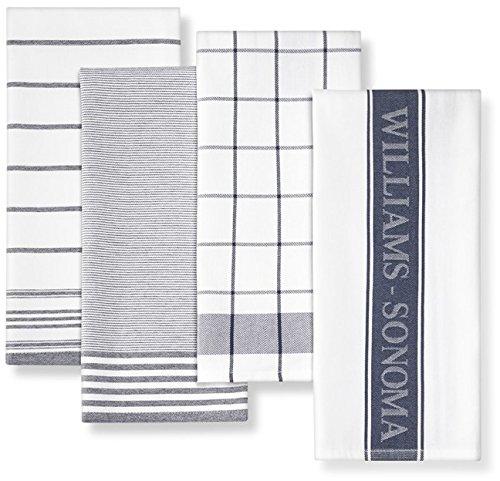 Williams-Sonoma 【ウィリアムズ・ソノマ / キッチンタオル4枚セット ネイビー 463229 / Multi Pack Towels Navy】 【並行輸入品】