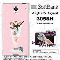 305SH スマホケース AQUOS CRYSTAL 305SH カバー アクオス クリスタル ソフトケース パフェ nk-305sh-tp663