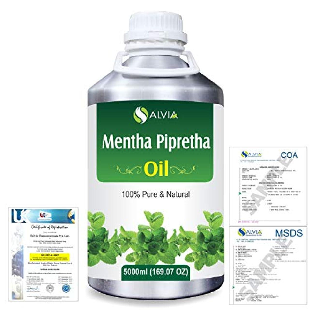 マラドロイト小説家変換するMentha Pipreta 100% Natural Pure Essential Oil 5000ml/169fl.oz.