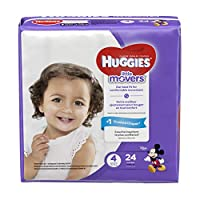 Huggies Little Moversおむつ、サイズ3、68Count (Packaging May Vary)
