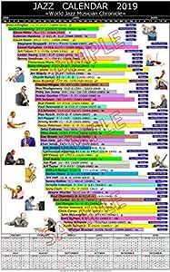 ジャズミュージシャンポスターカレンダー2019 B3