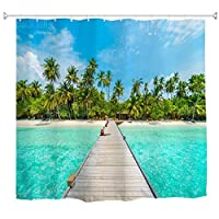 Pottery Pot Trestle Water-proof Polyester 3D Printing Bathroom Shower Curtain