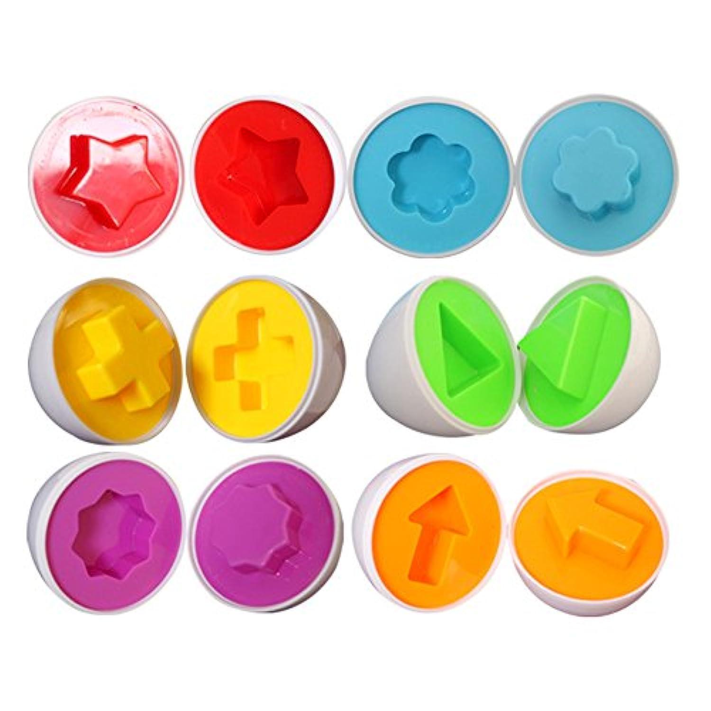 6 pcs Smart Egg Colour Shapes Matching Puzzle Easter Educational Toys