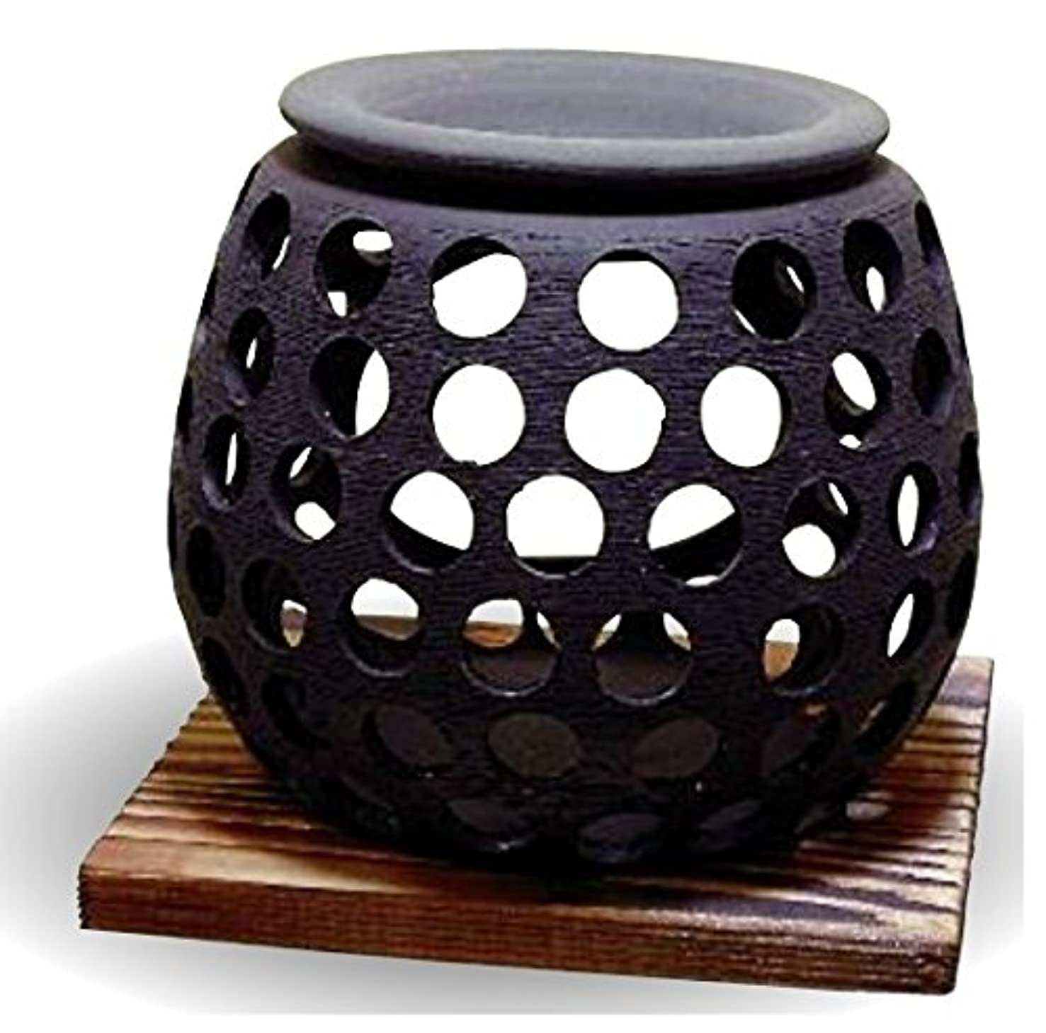 無駄にプロポーショナルリーダーシップ常滑焼 茶香炉(アロマポット)径10×高さ9cm