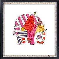 ポスター サラ バトル Big Elephant、 Little Mouse 額装品 マッキアフレーム-S(ブラックシルバー)