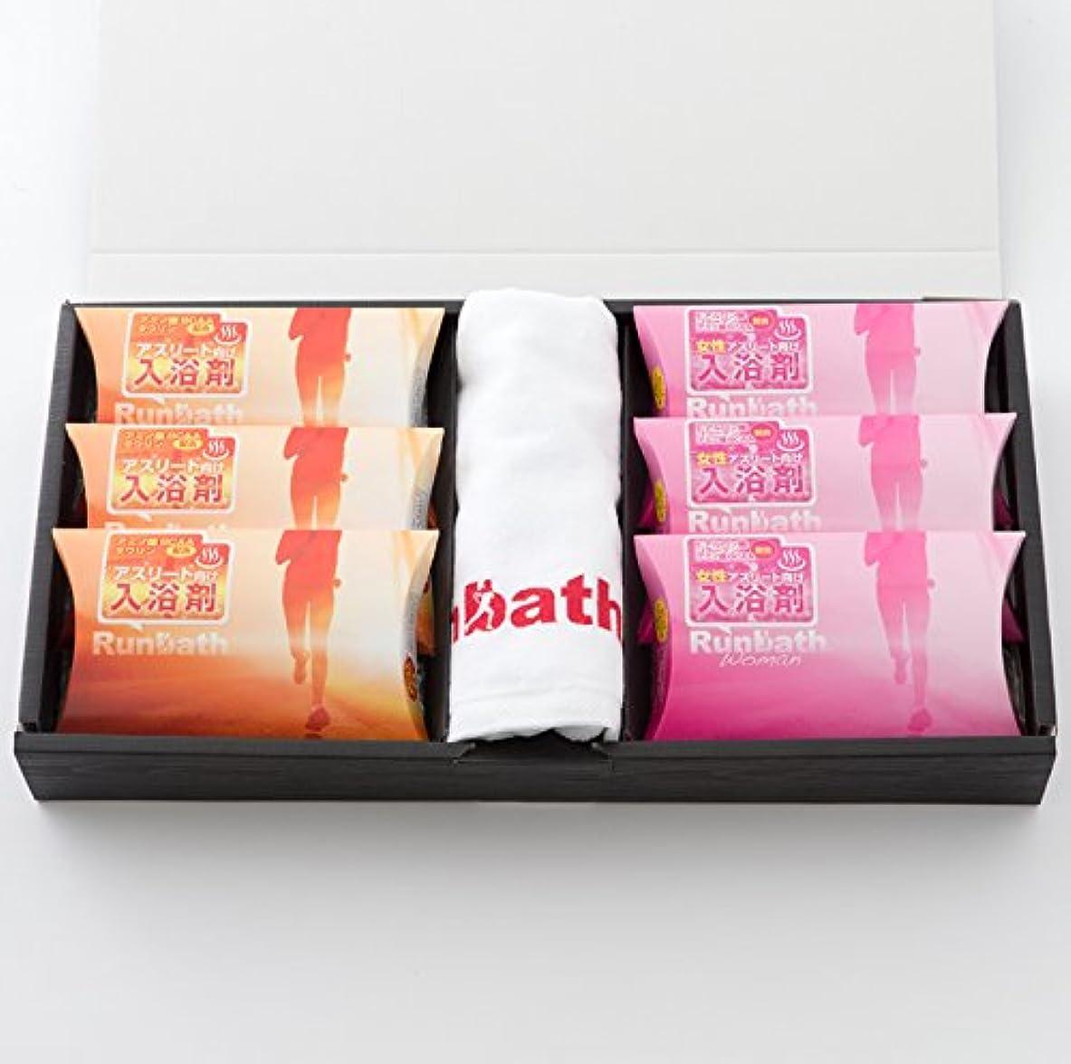 プット靴下実験をするRunbathランバス×ランバスウーマン 詰め合わせ 入浴剤ギフト