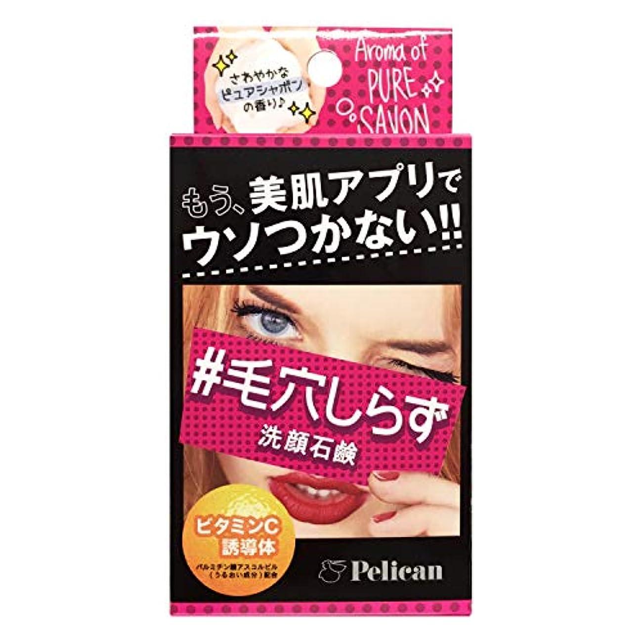 やさしく吸い込む青ペリカン石鹸 毛穴しらず洗顔石鹸 75g