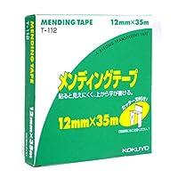 コクヨ メンディングテープ 12mmx35m 紙箱入 カッター刃付 T-112
