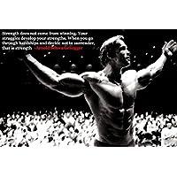 Arnold Schwarzeneggeボディ建物ニースシルク生地壁ポスター印刷 47 inch x 32 inch