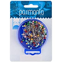 Professional Sewing Pins, Fabric Dressmaking Fancy Pearly Headed, Multicolour 100 Pieces, Sturdy Durable Excellent Finish, by Pasmanta Since 1953